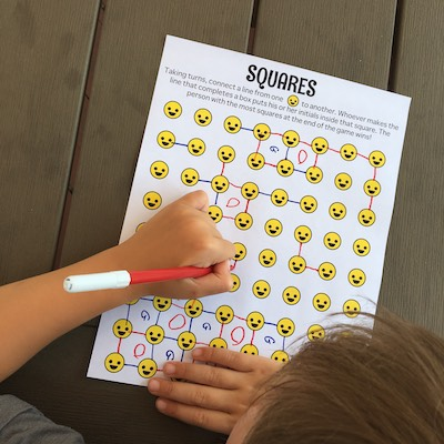 Free Squares Games for Kids! Free printable. Fun and easy to play.