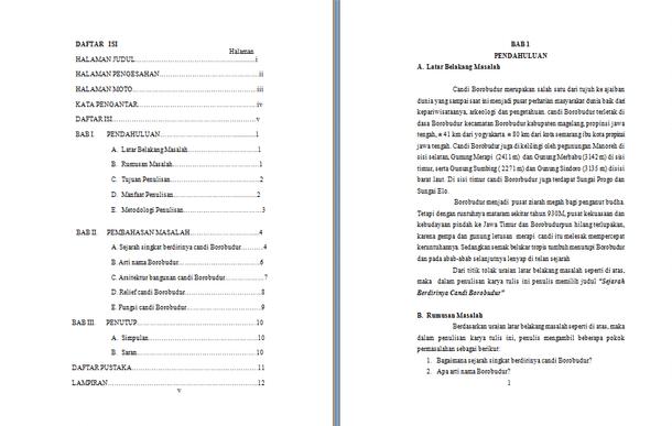 Contoh Makalah Candi Borobudur Lengkap Format Docx Microsoft Word