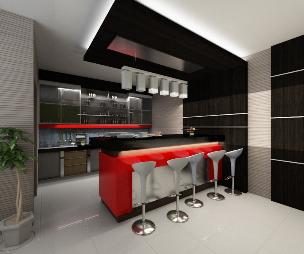kitchen set dengan meja bar 4