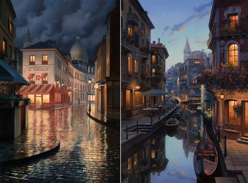 00-Evgeny-Lushpin-Scenes-of-Realistic-Night-Time-Paintings-www-designstack-co