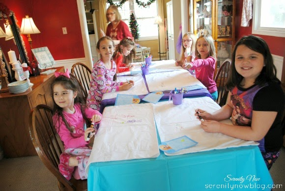 How to throw a Budget-Friendly pajamas and panacakes party at home! All the details at serenitynowblog.com