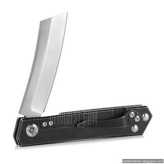 FURA straight razor Anso pattern titanium handle D2