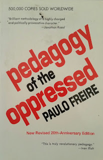 Book cover to Pedagogy of the Opressed by Paulo Freire