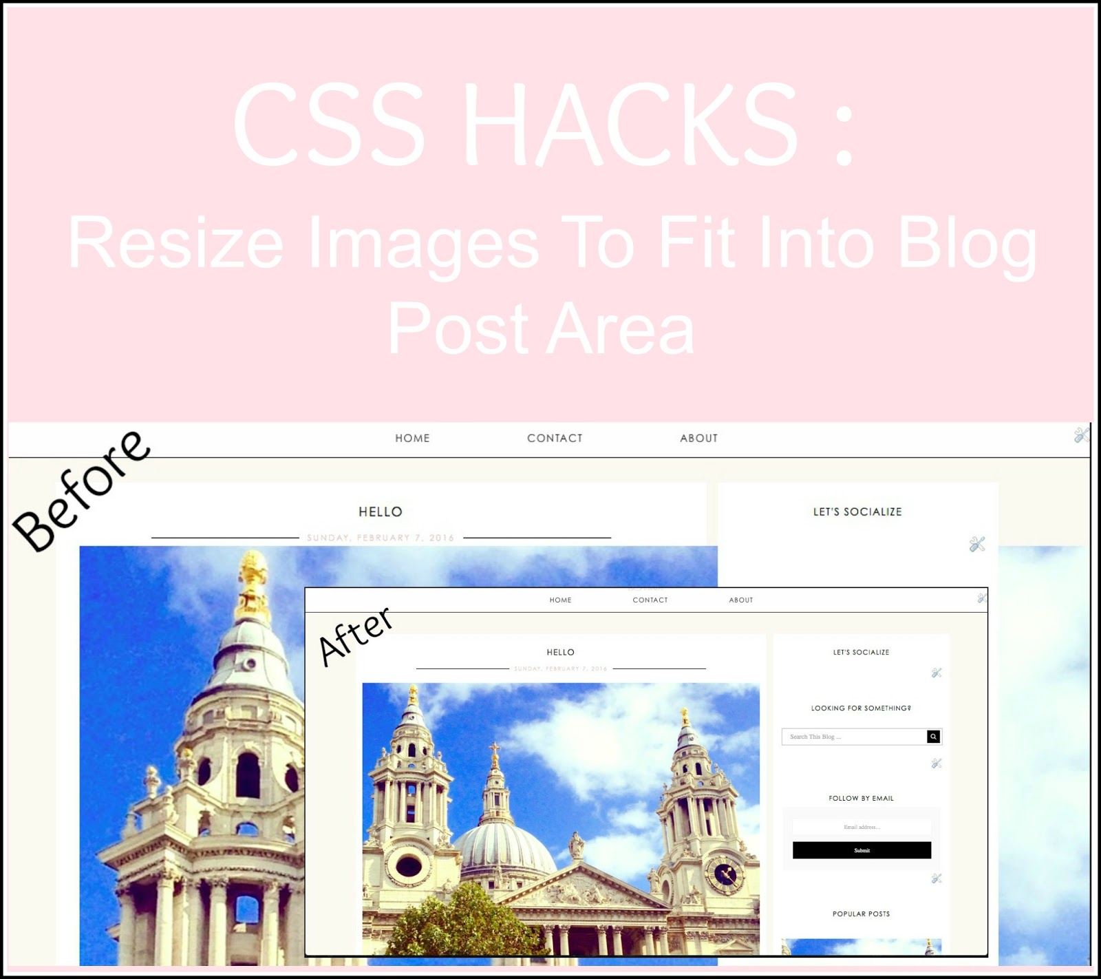 The Ultimate Code To Resize Your Blog Post Image