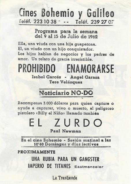 El Zurdo - Programa de Cine - Paul Newman - Lita Milan - Hurd Hatfield