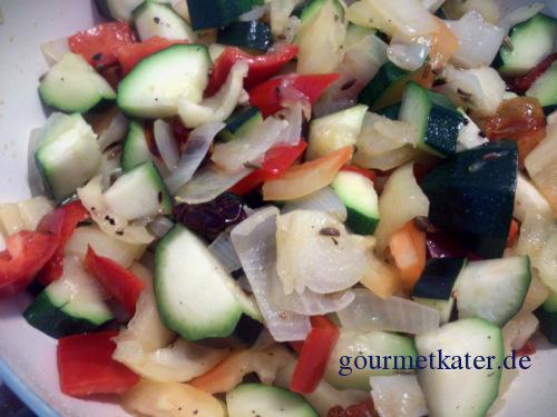 Gemüse in Pfanne