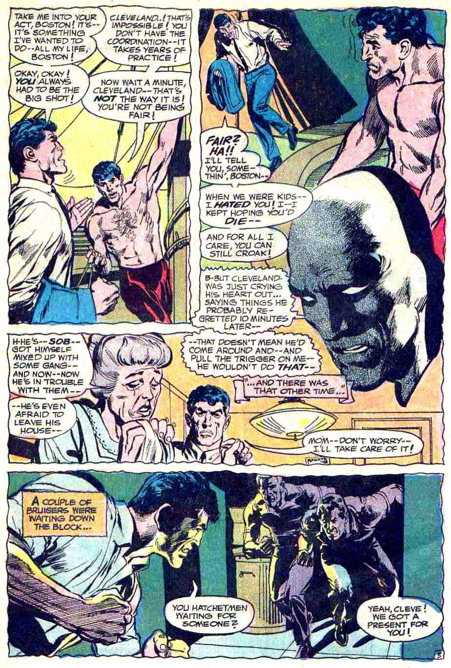 Strange Adventures v1 #211 dc 1960s silver age comic book page art by Neal Adams