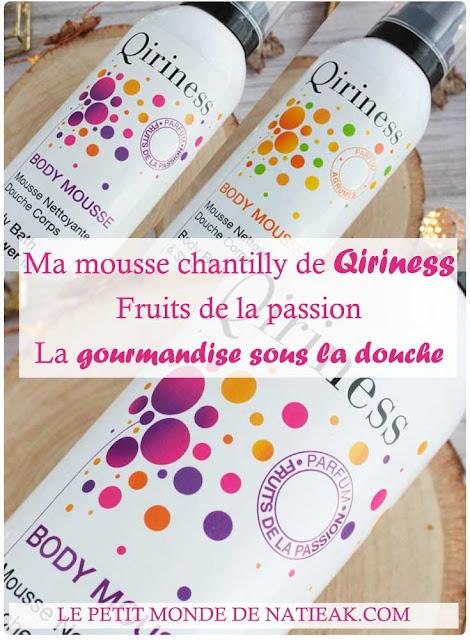 impressions sur la  Mousse nettoyante de Qiriness agrumes et fruits de la passion