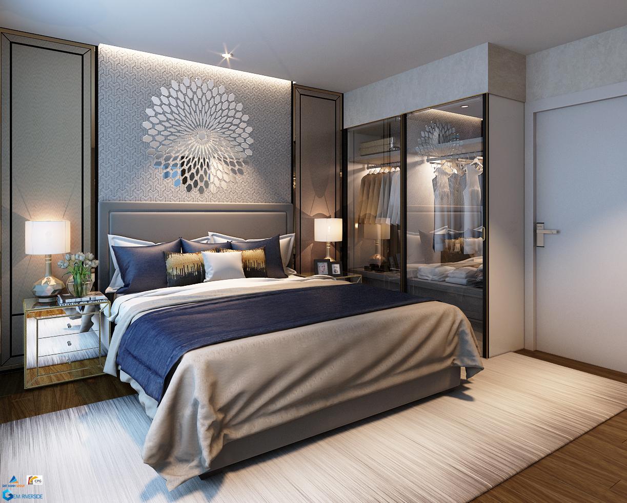 Gợi ý thiết kế phòng ngủ master Gem Riverside căn 78m2