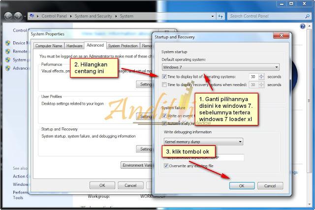 Cara Mengatasi Windows 7 Loader XE Boot Menu Full Tutorial-anditii.web.id