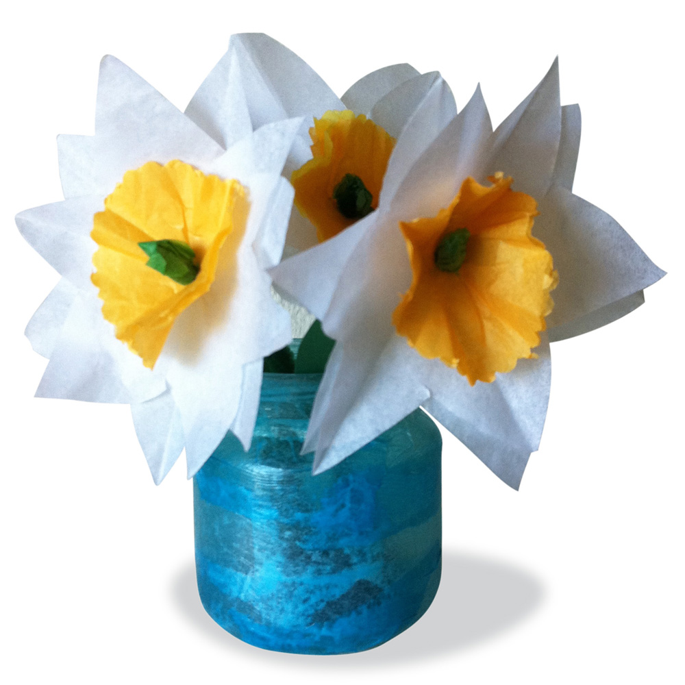 Tissue Paper Flowers For Mothers Day Art Projects For Kids
