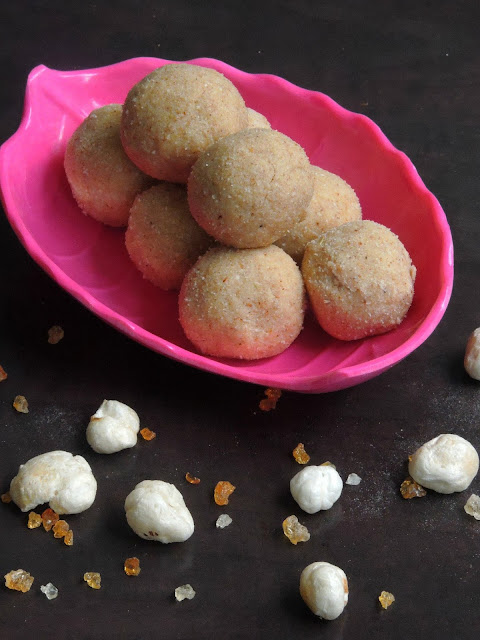 Makhana laddoos, Puffed lotus Seeds Laddoos