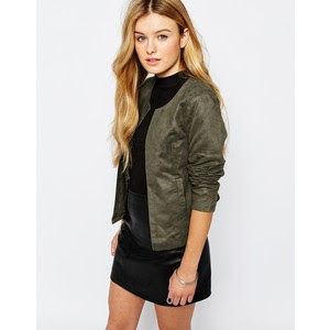 Only Suede Jacket at ASOS