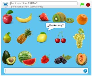Lecto-escritura Frutas.