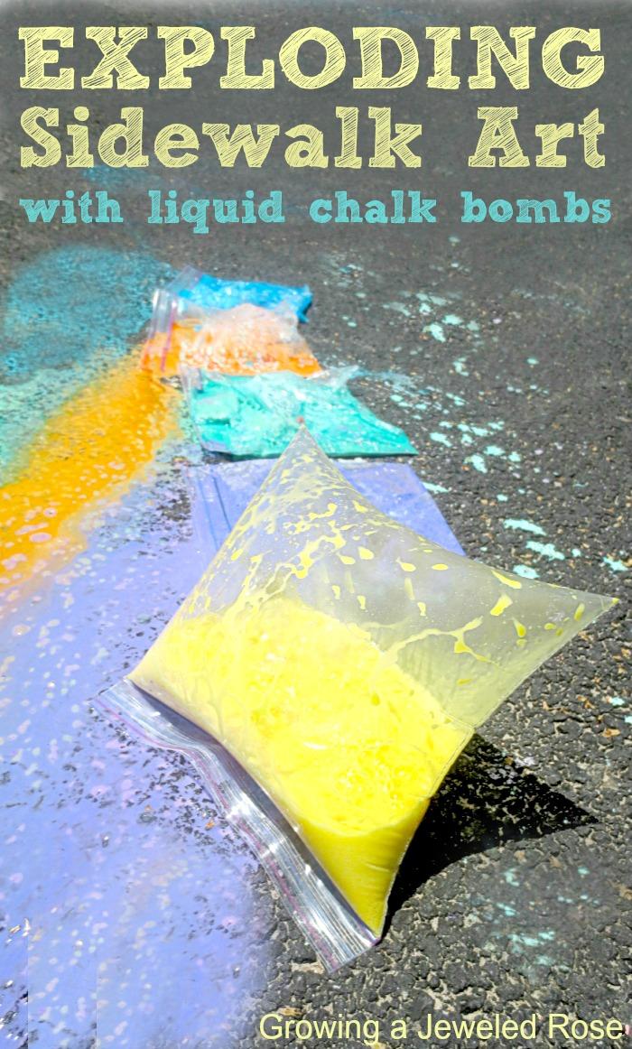 Play Recipe Sidewalk Chalk Growing A Jeweled Rose
