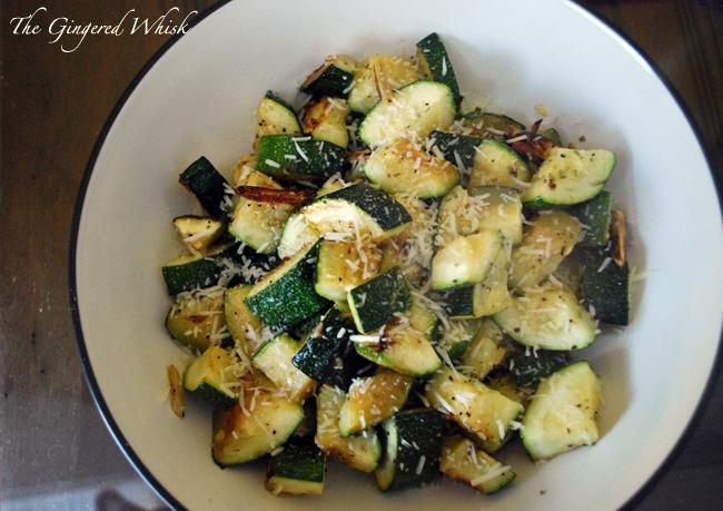 Garlic Roasted Zucchini (The Gingered Whisk)