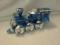 Manualidades con material reciclado - Tren construido con latas