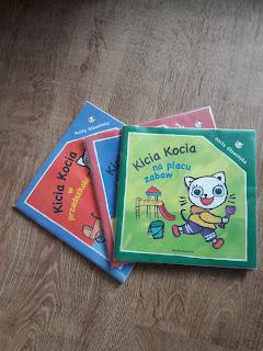 Kicia kocia, nunuś, książki, czytanie dzieciom, prezenty