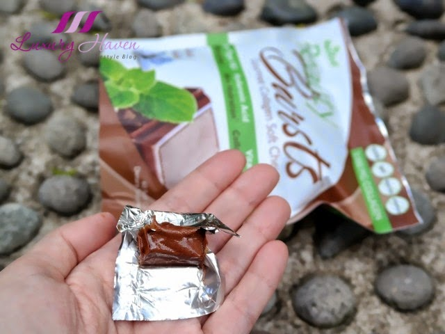 neocell beauty bursts collagen chews fresh mint chocolate