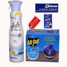 Pack of Glade Refresh air & All Out Mosquitoes By SC Johnson for Rs.141 Only