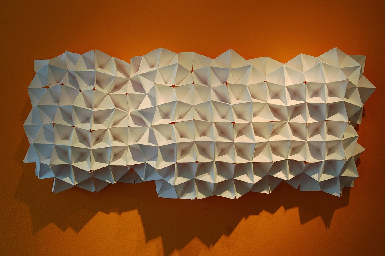 Wall-Mounted Paper Sculpture