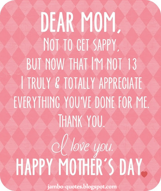 Mothers Day Quotes: I Love You MOM Quotes