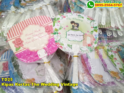 Jual Kipas Kertas The Wedding Vintage