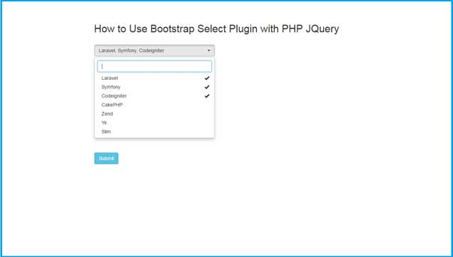 Multiple Select option by using Bootstrap Select Plugin in