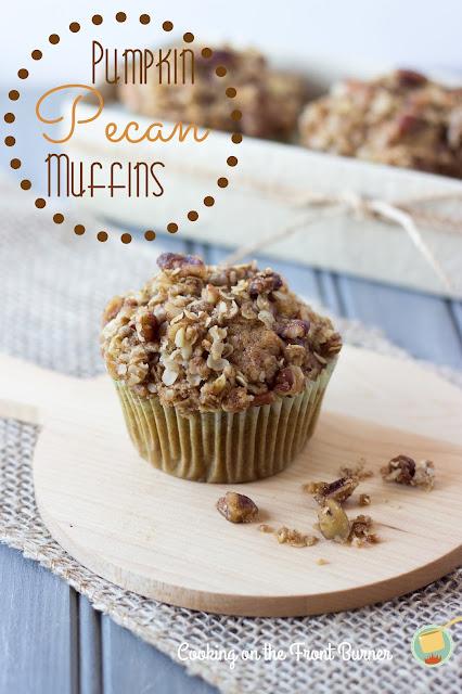 Pumpkin Muffins Pecan Streusel