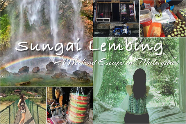 sungai lemming rainbow waterfall