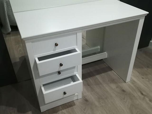 Mueble tocador lacado en blanco en Zaragoza