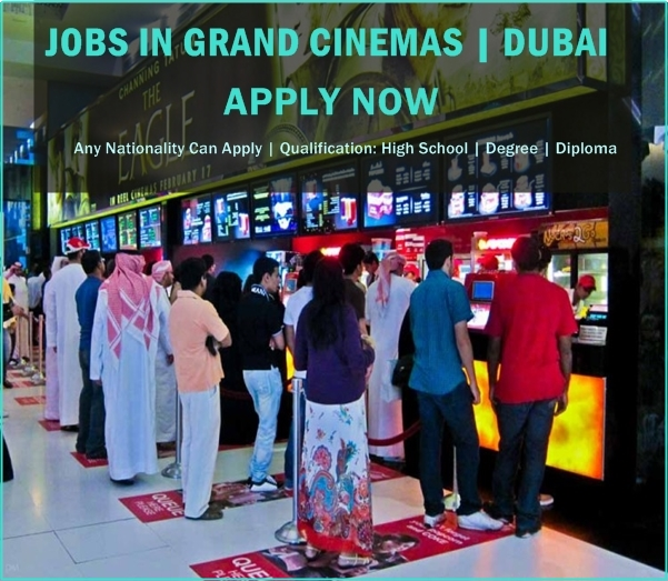 Latest Jobs in Grand Cinemas | Dubai