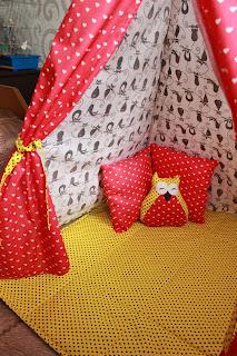 шалаш, вигвам, детское, пошив детского комплекта,  настроение своими руками, Яна SunRay, детский плед, подушки, наволочки, игрушка, кот, флажки,  детский  шалашик, шалаш своими руками, детское, игрушки, идея подарка, детский подарок, новогодний подарок.