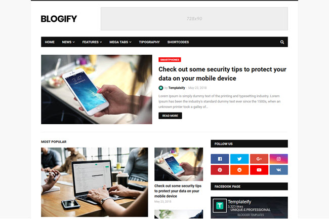 Blogify - Responsive Blogger Template