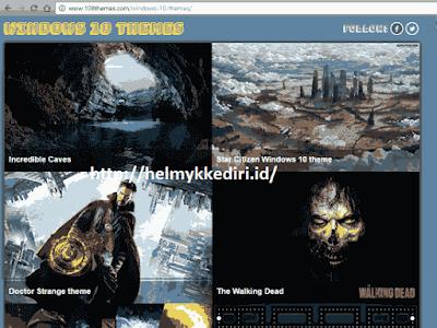 Situs penyedia tema windows 10