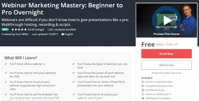 [100% Off] Webinar Marketing Mastery: Beginner to Pro Overnight| Worth 200$