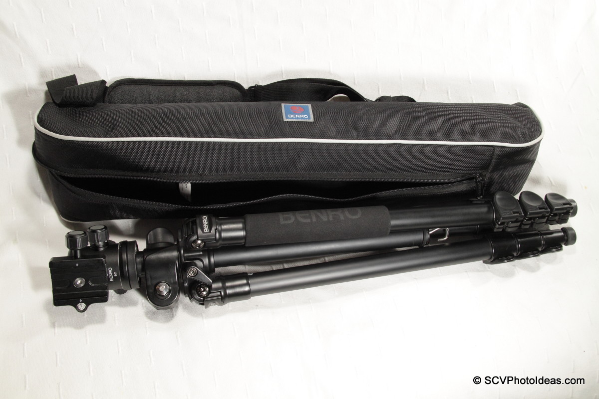 Benro A-298EX + Benro B-2 aside carrying case