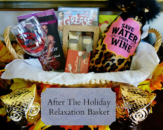 gift basket, wine, Grease, book, chocolate, gift idea