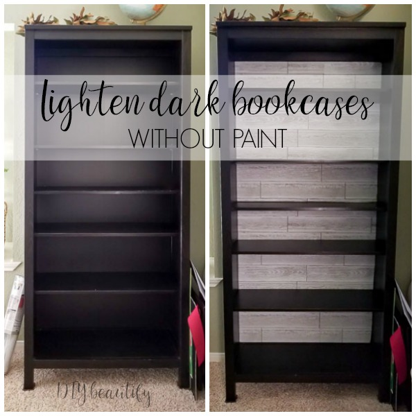 change the look of a bookcase without paint!