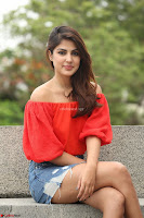 Rhea Chakraborty in Red Crop Top and Denim Shorts Spicy Pics ~  Exclusive 034.JPG