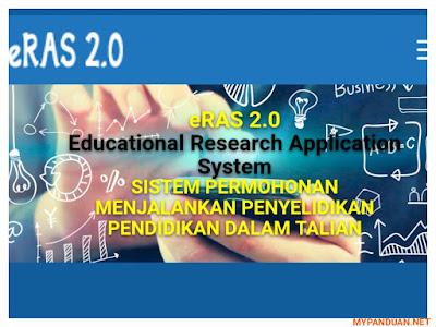 eRAS 2.0: Permohonan Menjalankan Penyelidikan Pendidikan Online