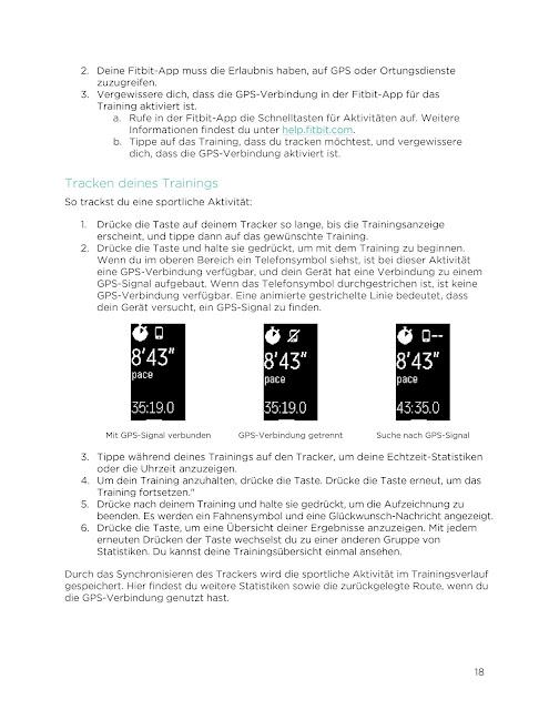 Bedienungsanleitung Handbuch Fitbit Charge 2