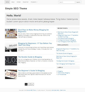 Template Blog SEO Friendly, Simple, Ringan, Trendy untuk Blog Pribadi