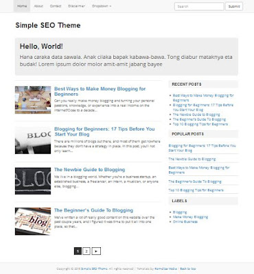 Simple SEO Theme