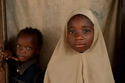 Two girls from the village of Suleja which is a city in Niger State, Nigeria