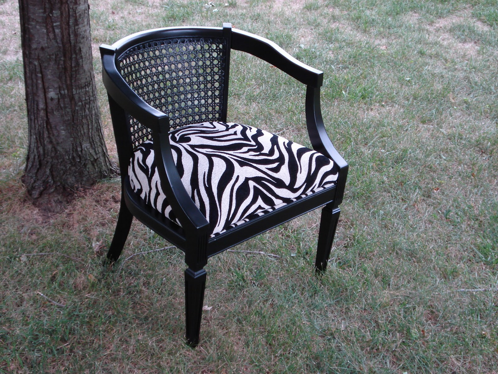 Vintage Gypsy Homegoods Zebra Accent Chair