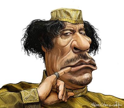 العقيد-معمر-القذافي-ليبيا-رسمة-لوحة-فنية-رسم