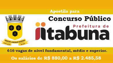 concurso Prefeitura de Itabuna - Todos os Cargos