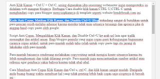Script Anti Copas Klik Kanan dan Disable Ctrl+U ke Arah URL Lain