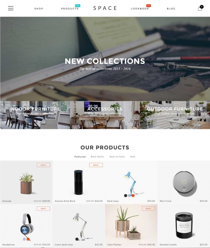 Space - Minimalist, Clean WooCommerce Theme